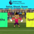 Today's activity to keep your little ones learning and having fun is called Solve, Shoot, Score - Can they add up and spell correctly to score past Premier League goalkeepers?